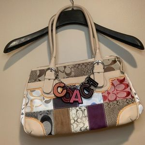 COACH Leather and Canvas Tote Bag